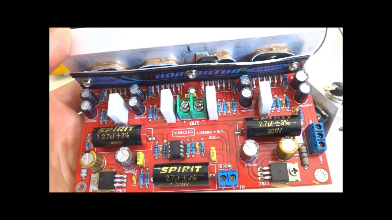 Inverter Circuit Diagram 12v Not Lossing Wiring 500w To 230v Lm3886 Amplifier Class Ab 200w Rms Hifi Btl Youtube Pdf