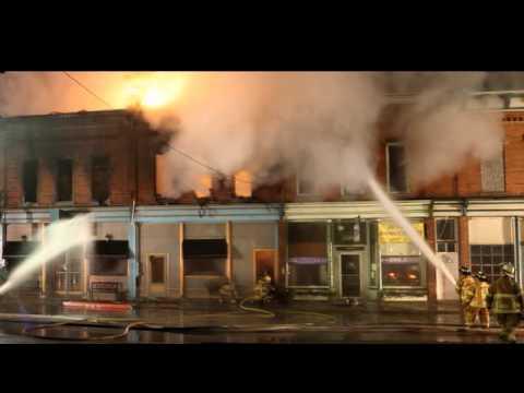 Byron MI Downtown Fire