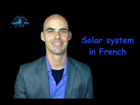 Solar system/space in French