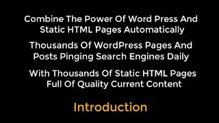 OTP Combining WP With HTML Pages Using Organic Traffic Platform Hybrid