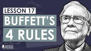 17. Warren Buffett's Four Rules to Investing