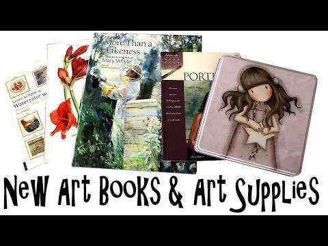 Art Book and Art Supply Haul April 2018