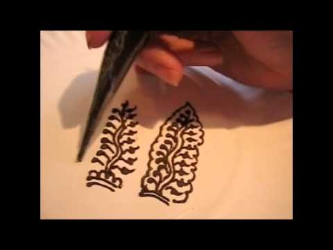 Henna Happiness How To Leaves And Vines Finger Design Youtube