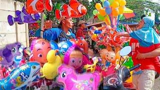 Ada Balon Tayo, Balon Hello Kitty, Balon Ikan Nemo | Balita Lucu Beli Balon Mainan Anak