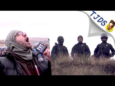 Criminal Cops At DAPL Shouted At By A Real Reporter, Their Response? Enraging