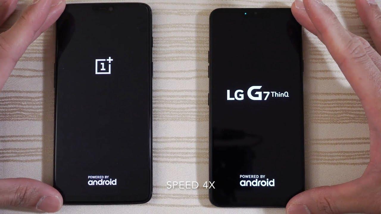 OnePlus 6 vs LG G7 ThinQ - Speed Test!