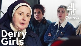 The Awkward Moment When You See Your Headmistress Outside Of School  Derry Girls