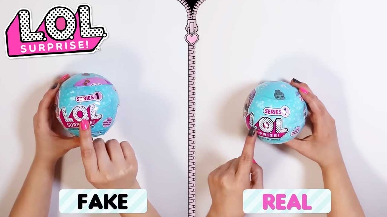Fake Vs Real Lol Surprise How To Spot A Fake Videos For Kids Youtube