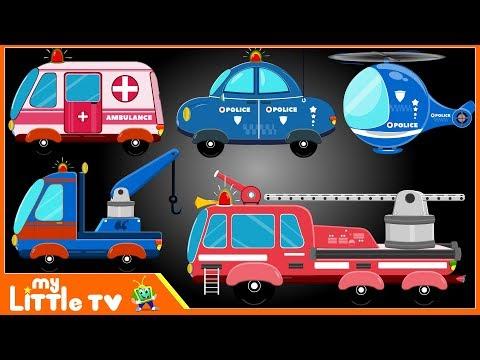 Police Chase Thief Car | Kids Cars Cartoon Songs & Rhymes