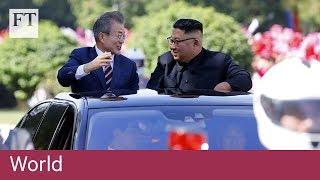 Video Pyongyang residents welcome South Korea's Moon Jae-in download MP3, 3GP, MP4, WEBM, AVI, FLV September 2018