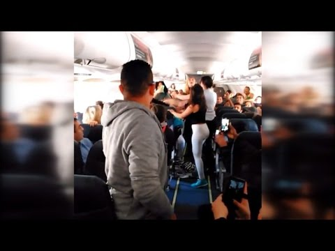 Thumbnail: Massive Brawl Happens on Plane After Woman Refused to Turn Music Down