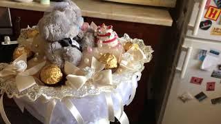 Конфетная Свадьба 4, букет из конфет