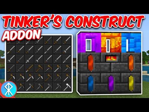 TINKER'S CONSTRUCT Addon (Bedrock/MCPE/Xbox Minecraft)