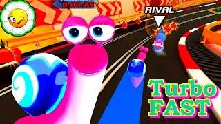 Turbo FAST #1  Гоночная улитка  Турбо на старт! Весёлые Гонки начинаются! Мультик игра