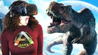 MEETING A GIGANOTOSAURUS IN VIRTUAL REALITY!! | ARK Park VR Gameplay (HTC Vive)