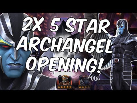 Double Five Star Archangel Crystal Opening - Marvel Contest Of Champions