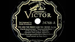 1934 Enric Madriguera - You And The Night And The Music (Tony Sacco, vocal)