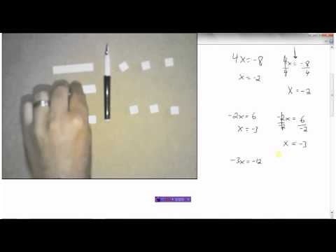 Solving Equations ax=b and x/a=b