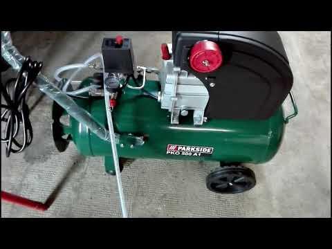Unboxing e Recensione Compressore PARKSIDE PKO 500 A1 LIDL 50 LT part. 5/6