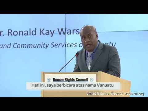 A Statement by Vanuatu and 7 Pacific Countries during UNHRC Meeting in February 2017