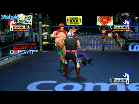 Lucha Libre: Heroes Del Ring - Story Mode Rudos Campaign, Retador vs Zombie Clown + Psycho Clown