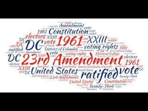 Washington DC & Presidential Elections - 23rd Amendment — Save Our Republic! #82