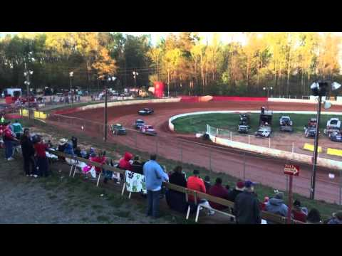 """Carl """"MailMan"""" Maree #2 - Renegade Car,  East Lincoln Speedway April 2, 2016 - Heat Race VICTORY!"""