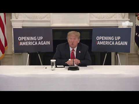 President Trump Participates in a Roundtable with Industry Executives on Reopening