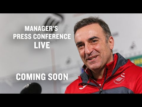 Press Conference LIVE: Carlos Carvalhal ahead of Man City.