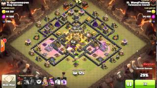Clash of Clans - TH9 - LAVALOONION (Lava Hound, Balloons, Minions) - 3 Stars Clan War Attack