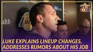 Lakers Pre-Game: Luke Walton Addresses Rumors About His Job, Explains Lineup Changes
