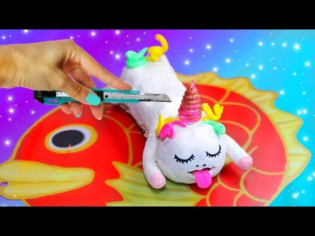 ¿QUÉ HAY DENTRO DE UN UNICORNIO, slime? cortando y abriendo al unicornio comilón