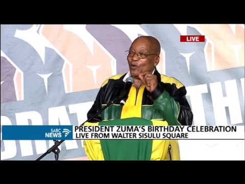 President Zuma's 75th birthday speech