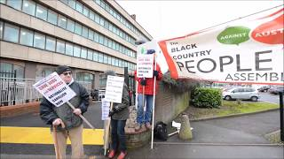 Protestors make their voices heard outside Carillion's Wolverhampton HQ
