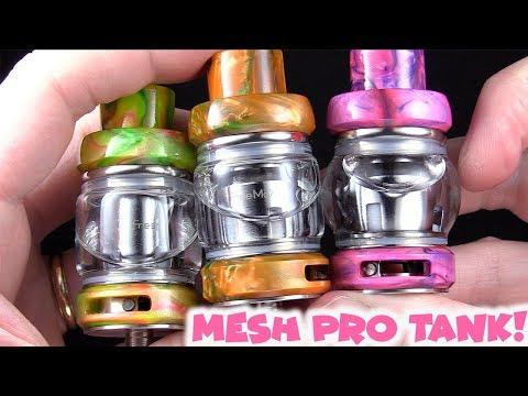 Triple Mesh Coil Heads!! The Mesh Pro Tank!