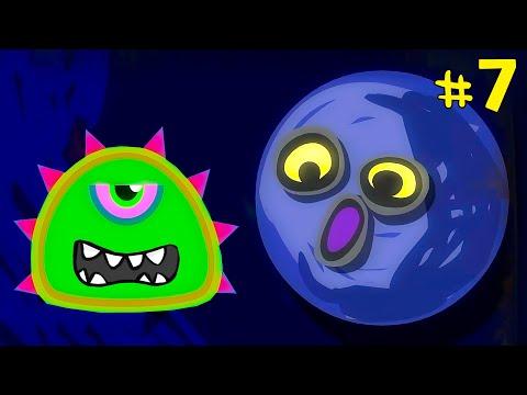 Лизун СЛИЗНЯК захватывает мир #7. Глазастик съел всех на луне. Серия 1. Игра Mutant Blobs Attack