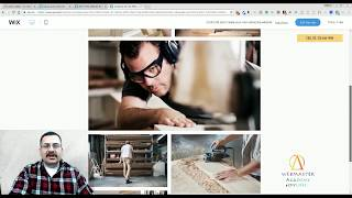 Carpentry and Services Template from Wix - Web Design - Tutorial
