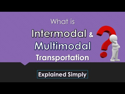 Inter And Multimodal Transportation | Explained With Simple Example