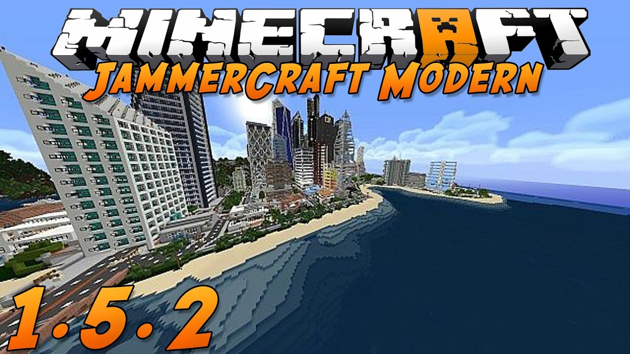Minecraft 1.5.2: JammerCraft Modern! (Texture Pack Spotlight) - YouTube