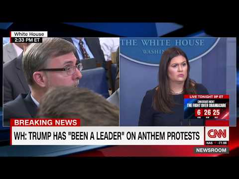 CNN: White House fires back at NFL protest backlash (entire briefing)