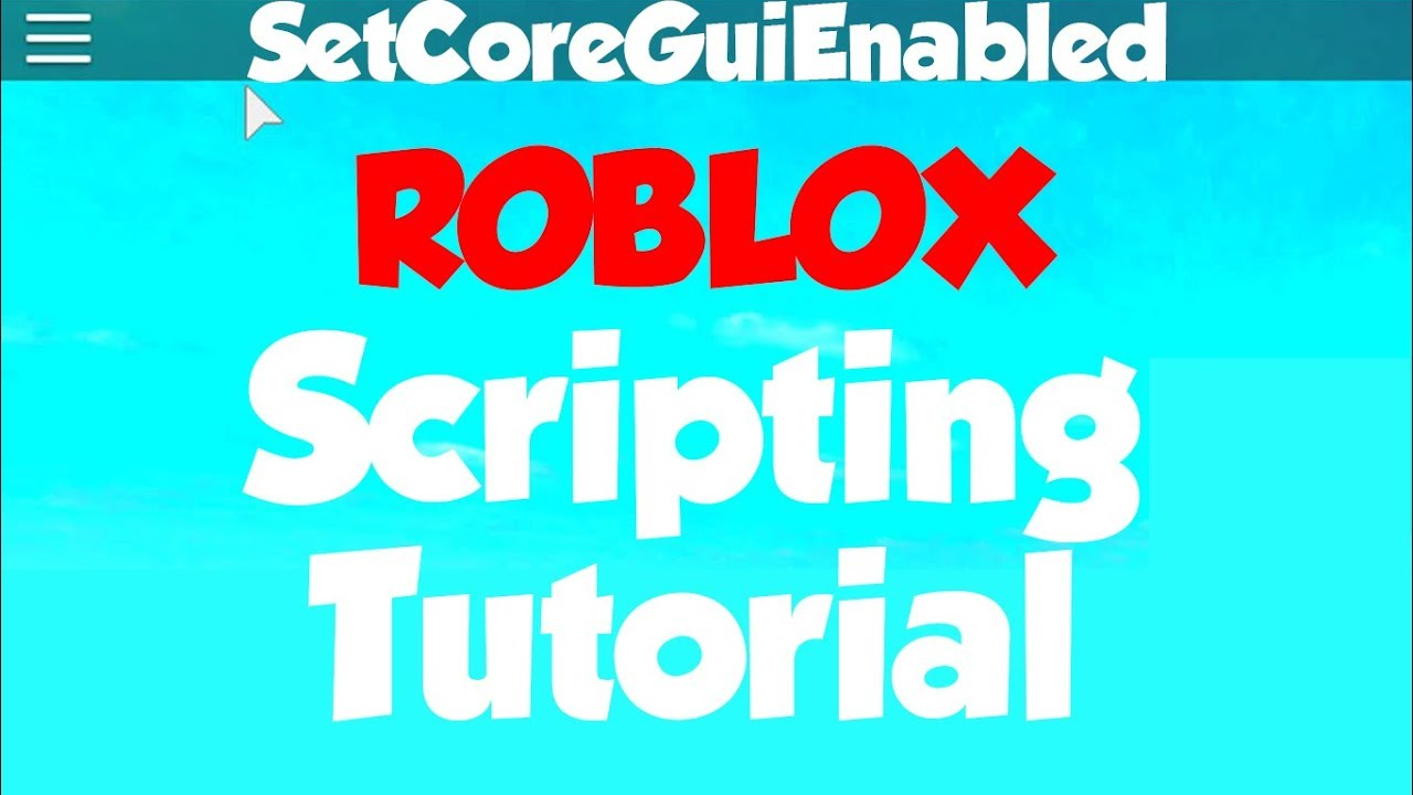 Roblox How To Disable Topbar Youtube
