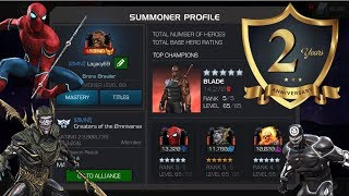 2 Year Account Anniversary Overview! Lagacy69! - Marvel Contest of Champions