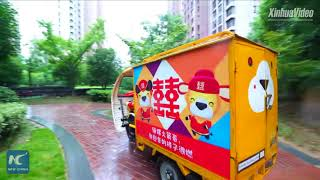 Courier's wedding goes viral: Man surprises his bride with convoy of 50 delivery vans