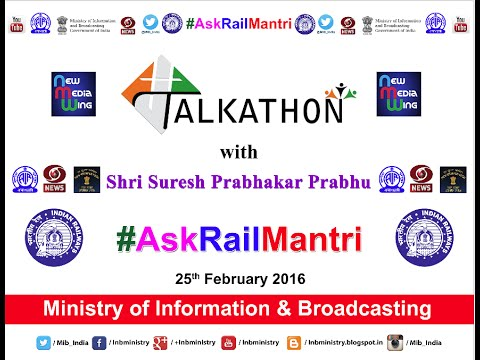 #Talkathon with Union Minister for Railways Shri Suresh Prabhu #AskRailMantri