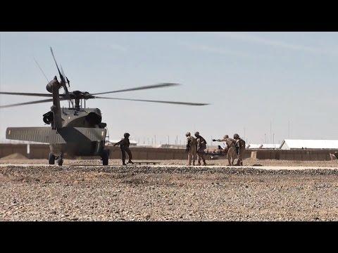 U.S. Marines Casualty Evacuation Drills In Afghanistan
