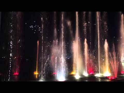 Dubai Festival City Fireworks, lights & Water show 2014 Jan