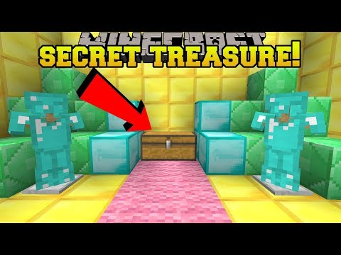 Minecraft: I FOUND A SECRET TREASURE ROOM!!  HEAD HUNTER THEME PARK 12