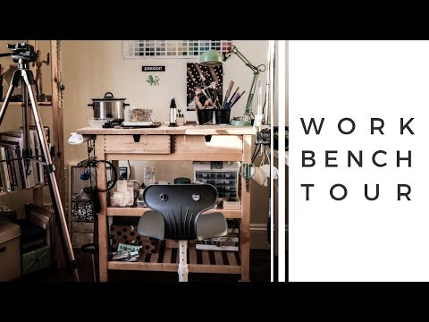 BENCH TOUR. How I Organise My Tools And Work Space. Workbench Ideas.