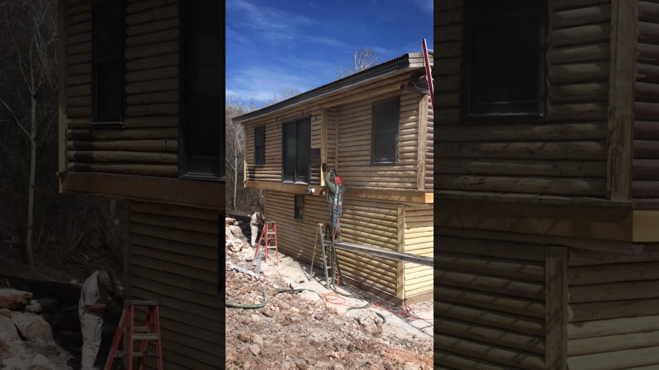 Soda Blasting Wood Siding