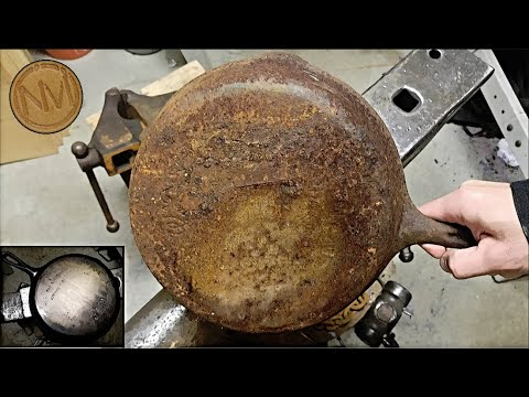 The Worst Cast Iron Pan - Restoration By Hand + Disappointing Ending - DIY